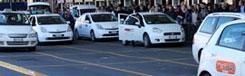 Met de taxi in Milaan