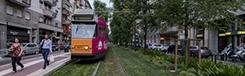 Met de tram in Milaan