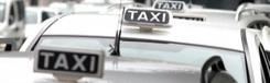 Met de taxi van het vliegveld naar Milaan